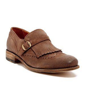 Blackstone Suede Fringe & Brogue Detail Loafer